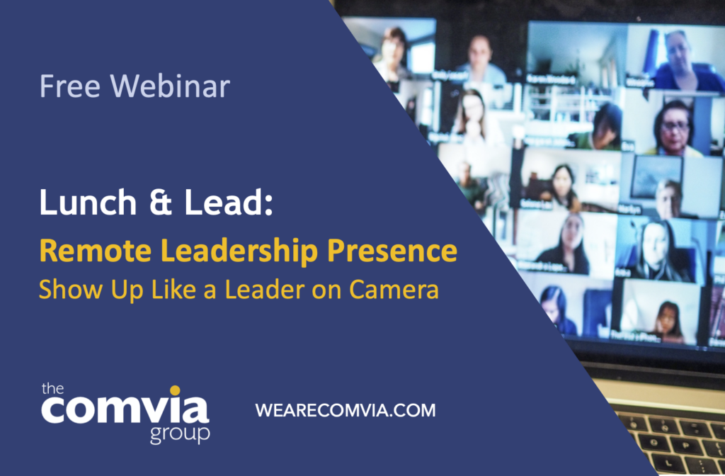 Remote Leadership Presence Webinar Art